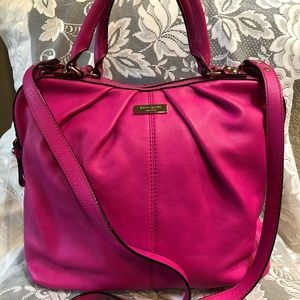 Kate Spade pleated satchel style purse